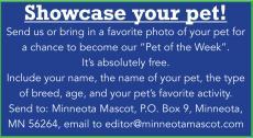 Pet of the week notice