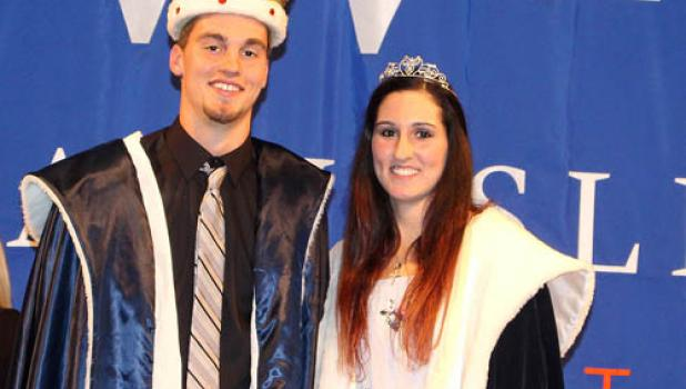The Dakota Wesleyan University King and Queen are Austin Buysse of Minneota and Chesney Nagel of Springfield, SD.