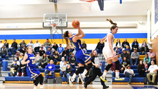Abby Hennen goes up for the shot.