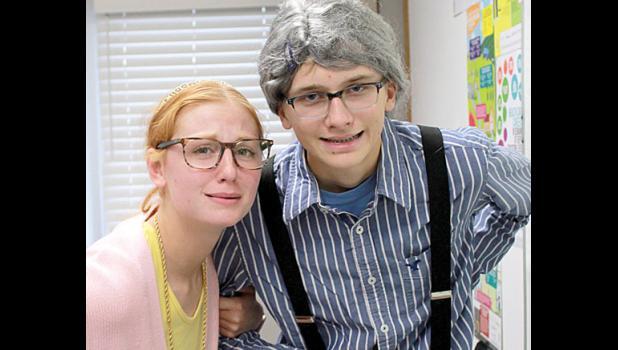 Dressing like grandparents were Natalie Bot and Jacob Haen.