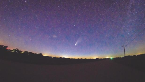 The closest the comet will get to earth is about 64 million miles. According to NASA, the comet won't be visible again for thousands of years, as it takes about 6.800 years to circle the sun.