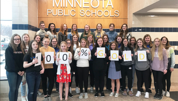 100% of the Minneota FCCLA struck gold!