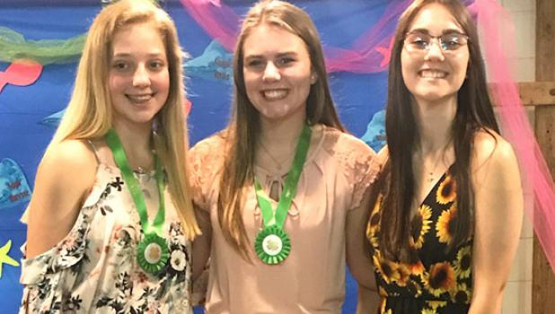Local participants included (left to right): Brooke Moorse, Jodi Buysse and Emily Buysse.