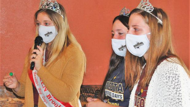 Harvest Festival also included Boxelder Bug Days Queen Brooke Moorse, left, and princesses Ava Larson, center, and Ellen Meagher  being on hand to call out Bingo numbers with winners earning prizes.