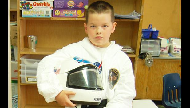 Neil Armstrong, depicted by Garrett Schuttler.