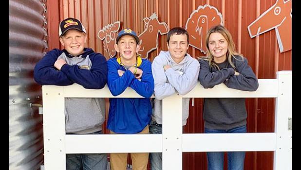 Members of the Minneota FFA General Livestock team include (left to right): Lane Loyson, Jack Lacek, Dylan Vlaminck and Rachel Vlaminck.