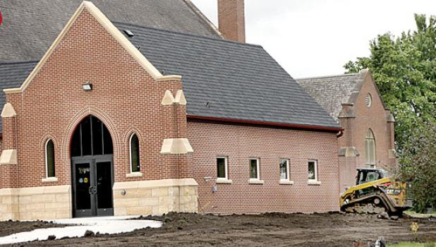 St. Eloi Catholic Church in Ghent has their new addition. It contains an elevator and extra room. A CAT operator worked on landscaping last week.