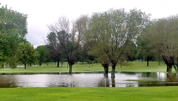 More flooding. Friday's downpour in Minneota left the Countryside Golf Course filled with water and unplayable.