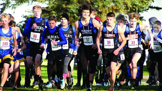 Canby Minneota runenrs at the start were Alexander Full, Blake Stoks and Tristin Biershenk.