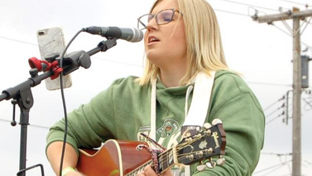 Kayla Daniels was on stage at the Summer Bash on Saturday.