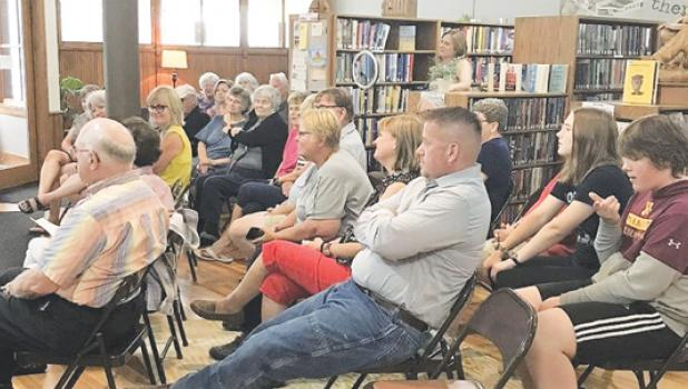 The Minneota Public Library hosted the first in a series of readings on Thursday, July 29 before a good-sized audience.