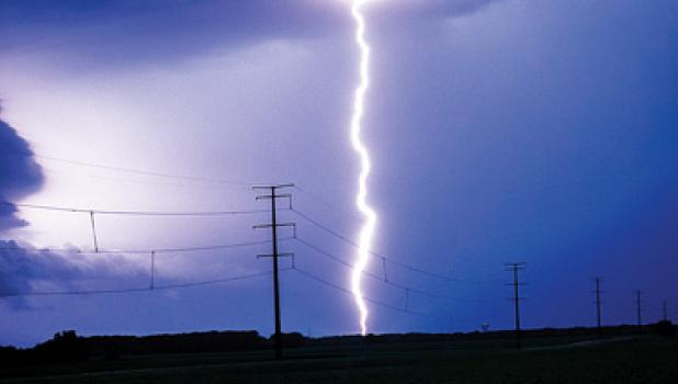 Lightening and heavy winds shook the area Sunday and Tuesday nights in the  area. Some corn was bent down by the winds near Green Valley and Cottonwood. And the sky was light up by the gigantic lightening strikes.