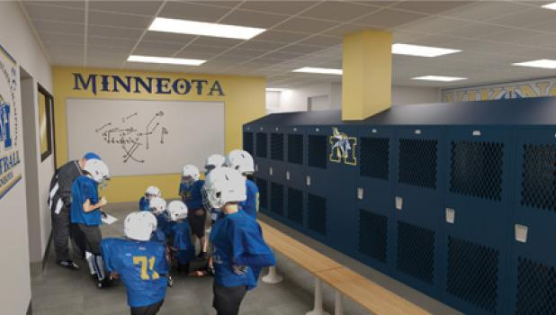 Special illustration of the proposed changes to the Minneota Public Schools locker rooms. Informational sessions will be held Thursday, July 13 and Monday, August 14 in the Choir room at the Minneota Public School at 7 p.m.