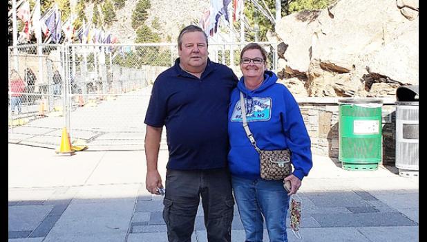 Scott and Mitzi Buckingham during a trip to the Black Hills.