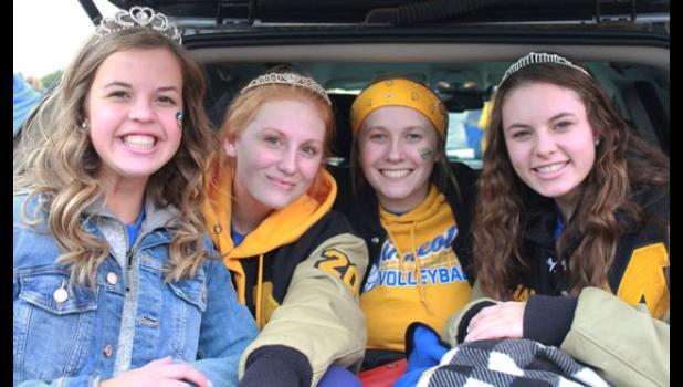 Molly Krog, Natalie Bot, Madison Sorensen and Merissa Traen.