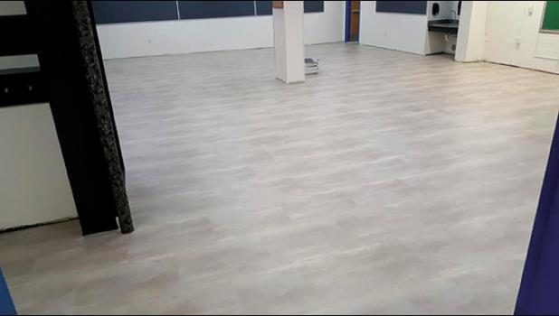 New floor in the Minneota Public Schools.