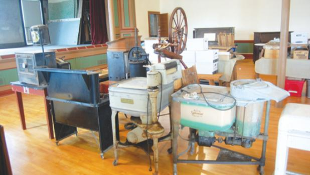 Items such as these have been donated over the years and are located in the Opera Hall.
