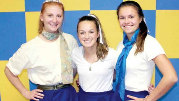 Well, Natalie Bot, Paige Welsh and Cecilia Rabaey brought them back during Decade Day at the Minneota Homecoming last week.