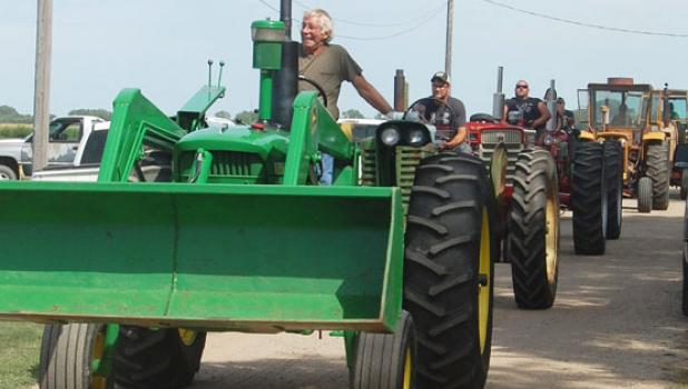 Tractors and other farm vehicles entertained Porter residents with a parade following the Tractor Show on Saturday during Harvest Festival.