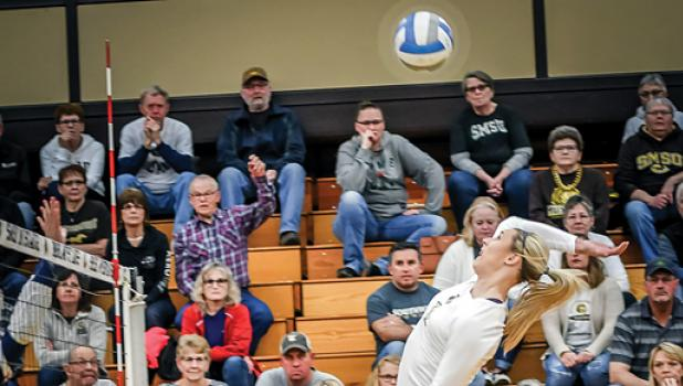 Minneota fans are familiar with the Taylor Reiss who hangs in the air and swats the volleyball like she's swatting flies.