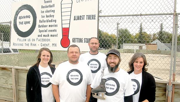 The Reviving the Rink committee members, from left to right: Jodi Maertens, Bill Maertens, Mike Stassen, Adam DeRoode and Chassidy DeRoode.