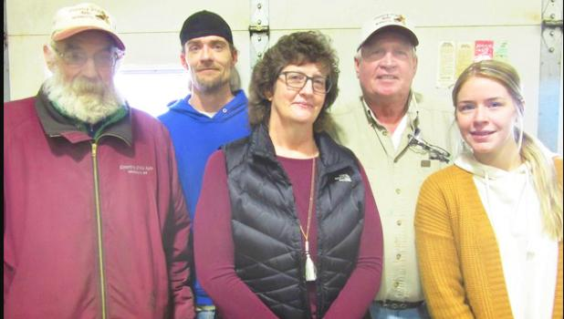 The Countryside Auto staff includes:Left to right: Art Berghorst, Ray Rasmussen, Nancy Longhenry, John Noyes, Liz Davis.