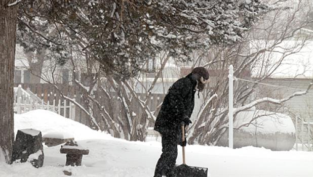 Another storms meant more shoveling for area residents.