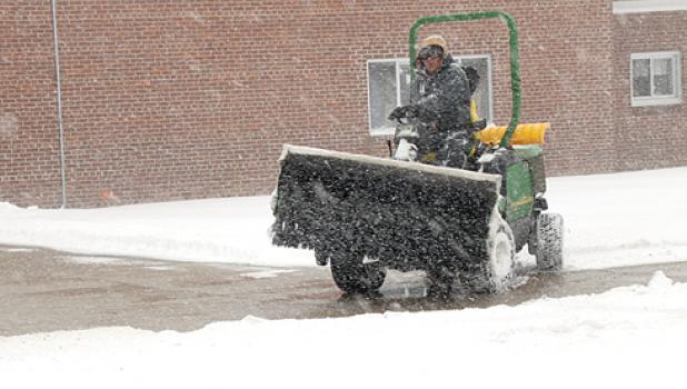 No school — but still school work. Kids got the day off from the Minneota Schools on Tuesday, but some of the workers had plenty of work to do because of the storm.