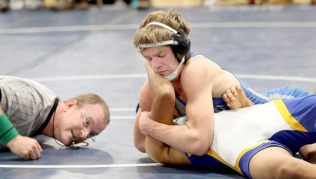 Minneota's Teddy Pesch at 138 pounds pinned Axel Martinez of Adrian on Saturday in 4:26.