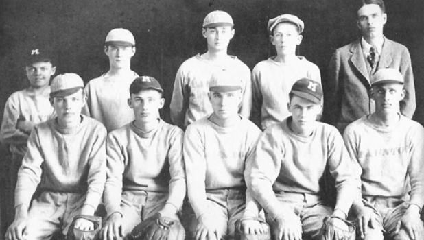 The 1920 Taunton town baseball team. Player identifications not available.