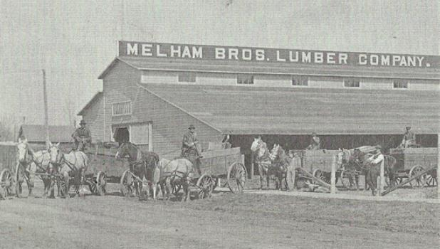Melham Brothers Lumber Company in Minneota was located at the corner of Third and Jefferson Streets in the 1930s.