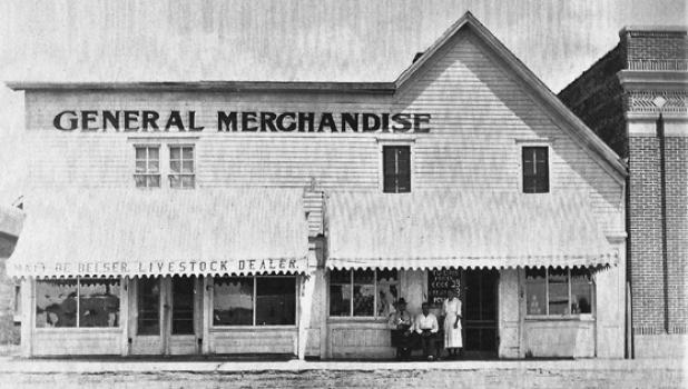 The General Merchandise Store in Ghent in 1930.