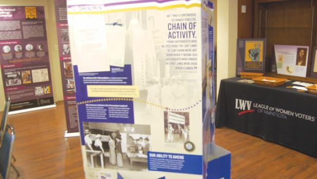 Lyon County Historical Museum in Marshall has had a traveling exhibit in the conference room on the second floor throughout the month of March. The exhibit, entitled: A Century of Civic Engagement: League of Women Voters in Minnesota to commemorate the 19th Amendment's centennial year and recognize the organization's mission and history over the past century.