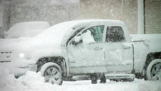 Road conditions were terrible for motorists from Old Man Winter's fury.