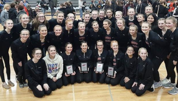 The Canby/Minneota Sensations competed at the MACCRAY competition on Monday night. All four of the dance teams, the JV Jazz, JV Kick, Varsity Jazz and Varsity Kick, all placed second in their categories.
