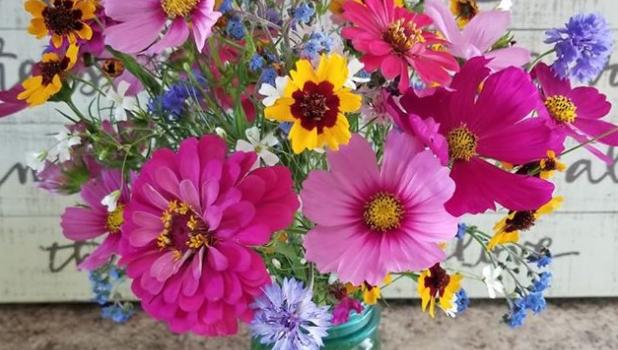 Flower bouquets like these from Split Creek Farm Florals last season will be available this summer.