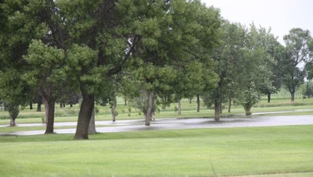 The countless rain and flooding conditions really hurt the golf club.