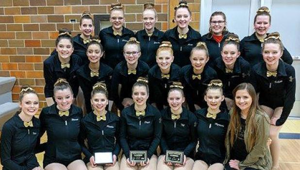 The Canby-Minneota Sensations kick team taking third in the Camden Conference meet.