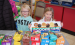 Addyson Pohlen, left, and Violet Vlaminck of Minneota Girl Scouts Troop #37814 were all smiles while selling Girl Scout Cookies at AgPlus in Minneota on Saturday.