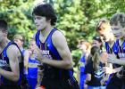 Three of Canby-Minneota's runners take off. They are: left to right: Blake Stoks, Alexander Full and Tristan Biershenk.