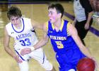 Alex Saltzer drove the lane against Lakeview's Colby Marczak.