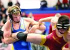 Kyle Banks, who got a pin at Windom, had a hold on an opponent recently.