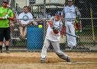 Andrew Suby of Marshall swung at a pitch for Bent Rite Fabrication during the Ghent Belgian American Days Softball Tournament.
