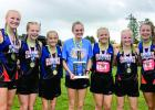 The Canby-Minneota girls team areL (Left to right) Aidyn Bruns, Braelyn Merritt, Claire Stoks, Grace Drietz, Faith Traen, McKenzie Ruether and RyAnn Hansen.