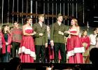 "Cecilia Rabaey, Jacob Haen, Jackson Jeremiason and Natalie Bot led the rest of the cast in the closing rendition of ""White Christmas""."