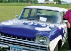 Chris Hansen of Taunton showed off her 1960 AMC Rambler at the Minneota Countryside Golf Course Car Show on Monday night.