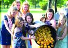 The annual Duck Races at Countryside Golf Course, sponsored by the Boxelder Bug Day Committee got a send-off last week as Queen Candidates Jodi Buysse, Raeann Bruner, Katie Walerius and Klaire Banks dumped the ducks into the pound. Royalty (back) also helped, including Rachel Vlaminck, Katie Konold and Natalie Bot. More on Page 12.