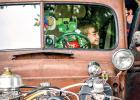 The car show in Ghent, sponsored by the Ghent Crusiers, always brings a large crowd to Belgian American Days  — and it did again this year. Ehann Farris of Taunton took the opportunity to hop inside Lee Kilpatrick's Rat Rod. As usual, prizes were handed out in various categories.