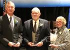 Curt Eischens (center) was a Cooperative Network award recipient pictured with two other award winners, Andy Fiene and Dr. Ann Hoyt.