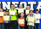 Elementary Valor Students are:  (Front row, left to right) Piper Shoultz, Tate Koons and Aubree Timm. Back: Hunter Danielson, Carter Anderson, Clare Swedzinski, Owen Myrvik and James Harms.